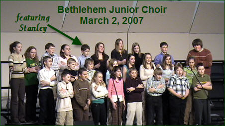Stanley's Junior Choir video